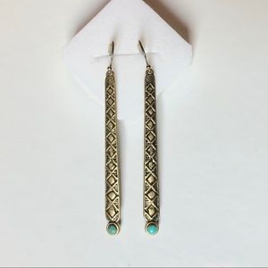 Lucky Brand Gold and Turquoise Earrings